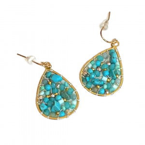 Small Turquoise Teardrop Product Image