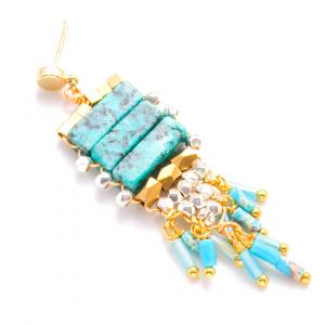 Tiny Turquoise Tassel Image